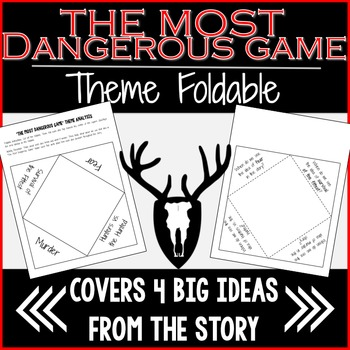 The Most Dangerous Game Theme Foldable