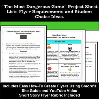 The Most Dangerous Game: Short Stories Unit - Short Story Technology Project
