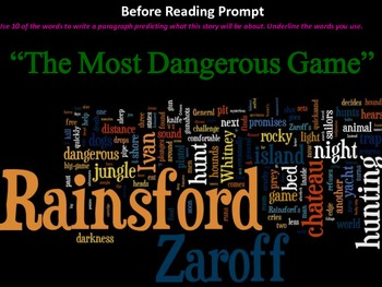 The Most Dangerous Game Student Centered Reading Activity