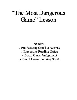 The Most Dangerous Game - Suspense and Conflict with Board Game Project