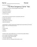The Most Dangerous Game Test