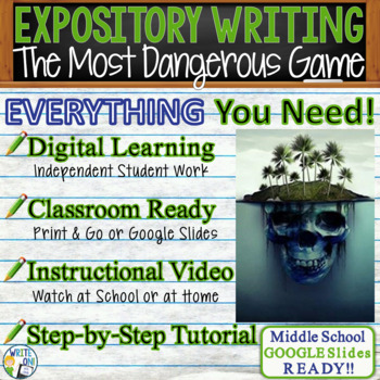 The Most Dangerous Game - Text Dependent Analysis Expository Writing