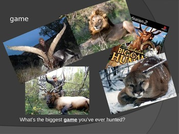 """""""The Most Dangerous Game"""" Vocabulary Powerpoint"""