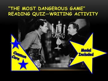 The Most Dangerous Game Writing Activity—Grades 8-10