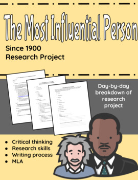 The Most Influential Person since 1900 Research Project