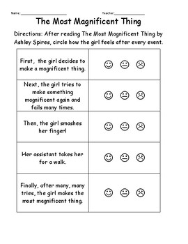The Most Magnificent Thing - Kdg Worksheet