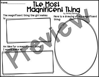 The Most Magnificent Thing: Reading Response Activity
