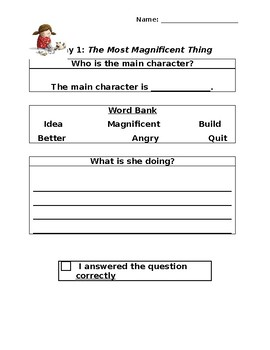 The Most Magnificent Thing: Two Day Close Reading Plan