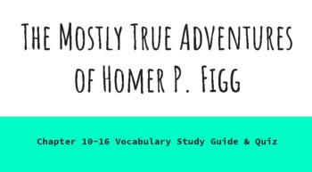 The Mostly True Adventures of Homer P. Figg  Ch.10-16 Vocabulary Study Guide