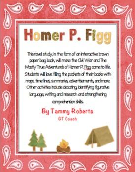 The Mostly True Adventures of Homer P. Figg Novel Study Br