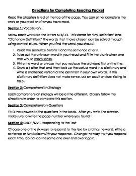 The Mostly True Adventures of Homer P. Figg Reading Comprehension Packet