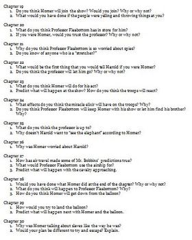 The Mostly True Adventures of Homer P. Figg Reading Questions