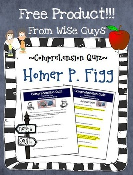 The Mostly True Adventures of Homer P. Figg Reading Quiz Activity
