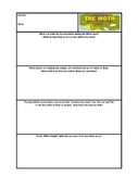 The Moth - Comprehension Notes Template