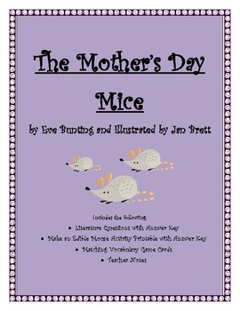 """The Mother's Day Mice"" by Eve Bunting /Literature ?s /Edible mouse"