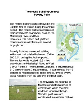 The Mound Building Culture: Poverty Point
