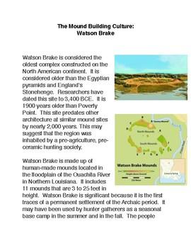 The Moundbuilding Culture: Watson Brake
