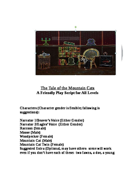 """The Tale of the Mountain Cat,""  A Theatre Script [Theater Scripts]"