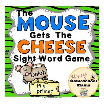 The Mouse Gets the Cheese Sight Word Reading Game - Dolch
