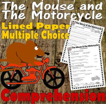 The Mouse and Motorcycle Chapter Comprehension Quiz Multiple Choice Short Answer