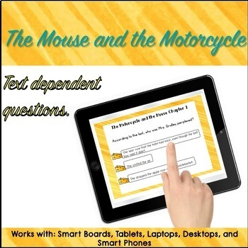 Google Classroom™ The Mouse and The Motorcycle Novel Study