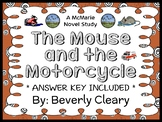 The Mouse and The Motorcycle (Beverly Cleary) Novel Study / Comprehension