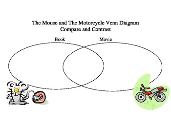 The Mouse and The Motorcycle Venn Diagram Comparing and Contrasting