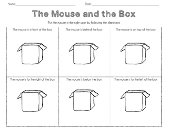 The Mouse and the Box Positional Language Activity