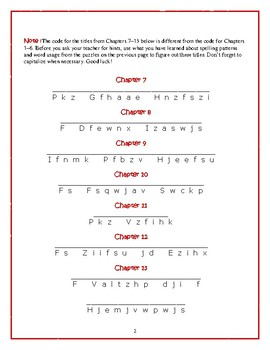 The Mouse and the Motorcycle: Chapter Title Cryptograms—Fun Spelling Workout!