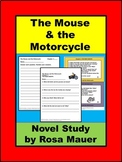 The Mouse and the Motorcycle Novel Study Distance Learning School or At Home
