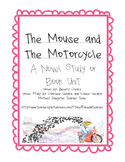 The Mouse and the Motorcycle- Novel Study, Ch. Qs, Activities, Quiz