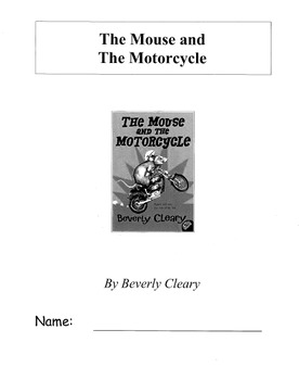 The Mouse and the Motorcycle Novel Study Packet