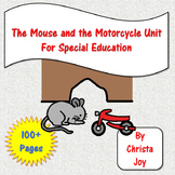 The Mouse and the Motorcycle Novel Study for Special Ed with questions