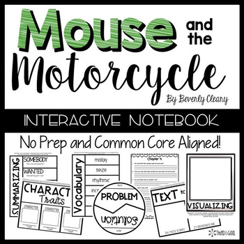The Mouse and the Motorcycle:  Reading Response Activities