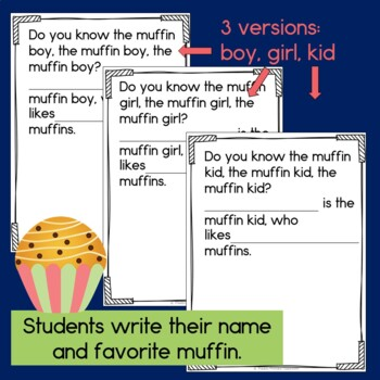 The Muffin Man Class Book with Sight Words