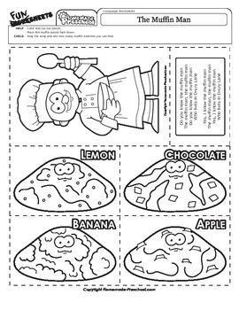 The Muffin Man - Nursery Rhyme Activity