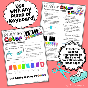 Do You Know The Muffin Man Color-Coded Easy To Play Piano Song Sheet