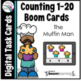 The Muffin Man Counting 1 - 20 Boom Cards