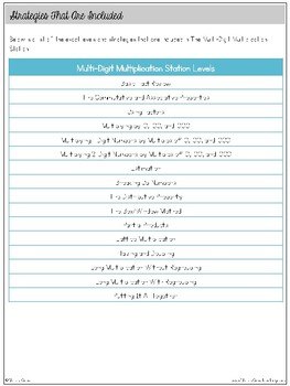 The Multi-Digit Multiplication Station: self-paced, student-centered