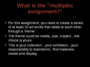 "The ""Multiples"" Visual Art Assignment PowerPoint Introduction"