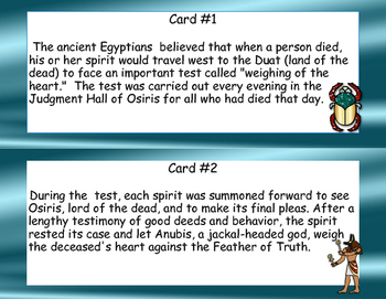 The Mummies of Ancient Egypt -Scavenger Hunt- Read and Write The Room