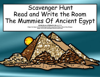 The Mummies of Ancient Egypt -Scavenger Hunt- Read and Wri