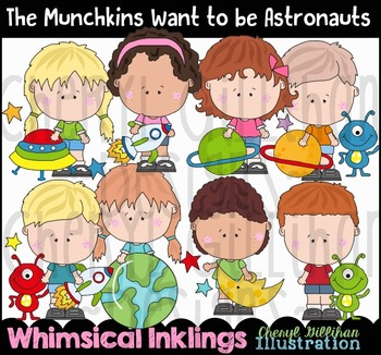 The Munchkins Want to be Astronauts Clipart Collection