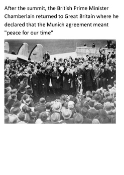 The Munich Agreement Handout with activities