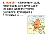 The Munich Putsch (Beer Hall) Quiz