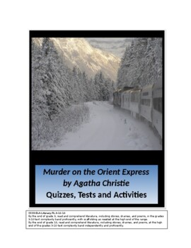 The Murder on the Orient Express by Agatha Christie Quizzes, Tests, Activities