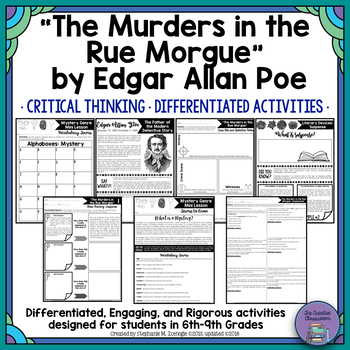 The Murders in the Rue Morgue by Edgar Allan Poe Unit-CCSS