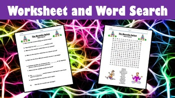 The Muscular System No Prep Lesson with Power Point, Worksheet, and Word Search