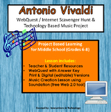 Music of Antonio Vivaldi - WebQuest and Music Composition | Distance Learning