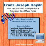 Music of Franz Joseph Haydn - WebQuest & Music Composition | Distance Learning